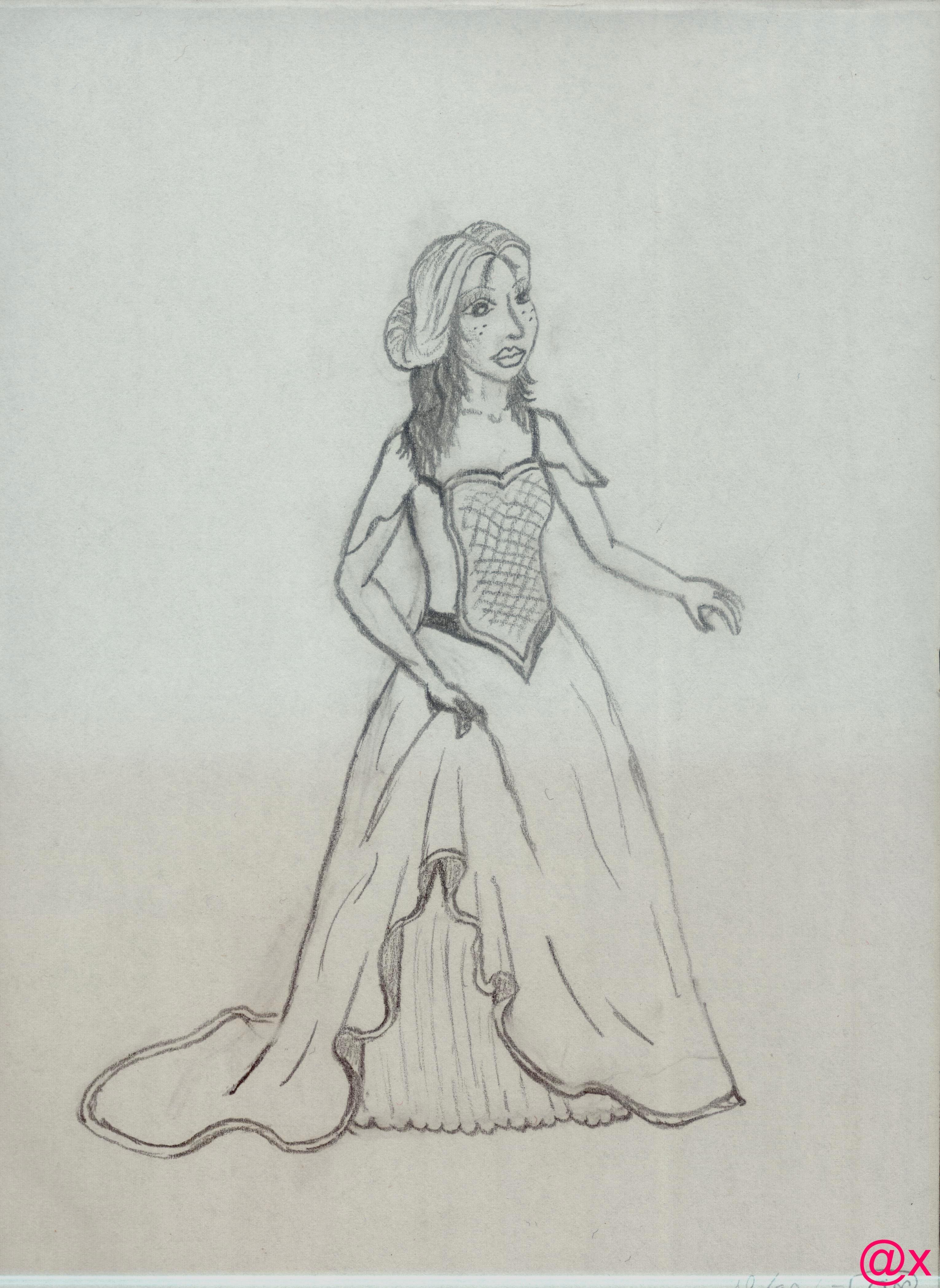 la dame à la robe